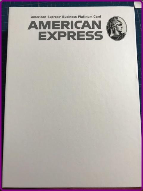 アメックスのプラチナカードの箱