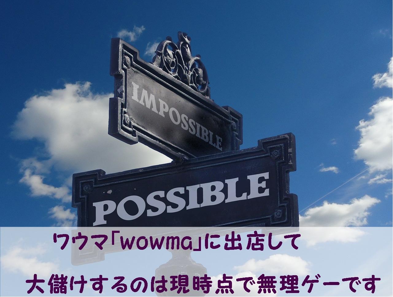 ワウマ「wowma」に出店して大儲けするのは現時点で無理ゲーです